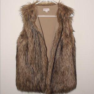 Merona Faux Fur Vest